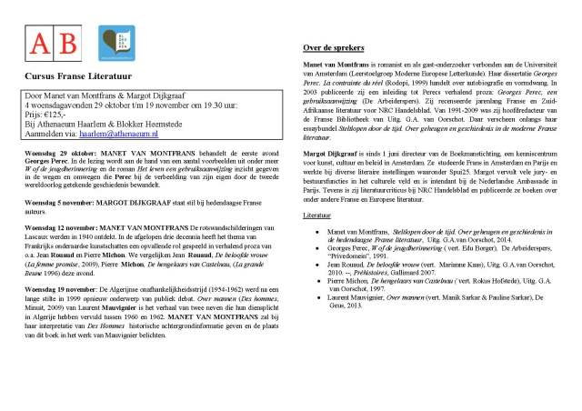 Flyer cursus franse literatuur-1