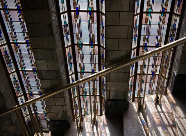 bungehuis trappenhuis glas-in-lood